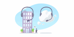 on-premise vs. cloud-based call center