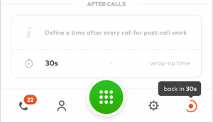 Wrap-up time feature in Aircall settings